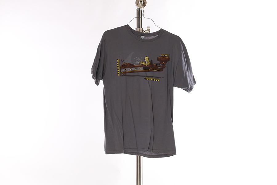 Gray C3PO Crash T-Shirt Image