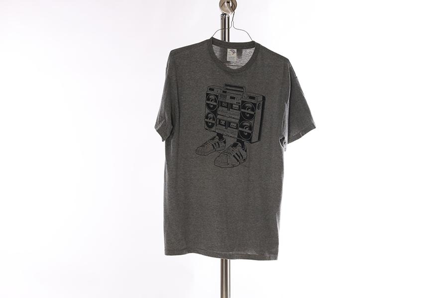 Heather Gray Boombox T-Shirt Image