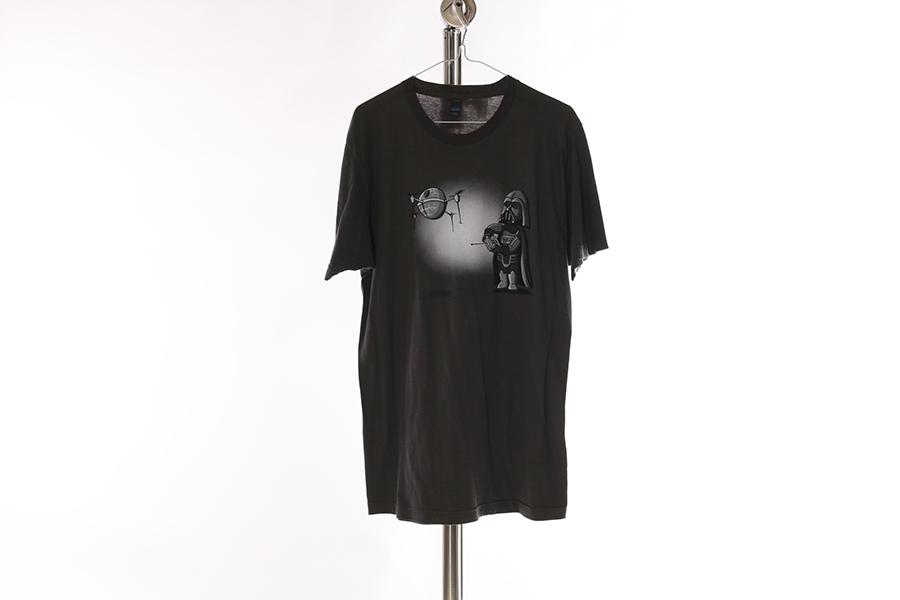 Gray Darth Vader Drone T-Shirt Image
