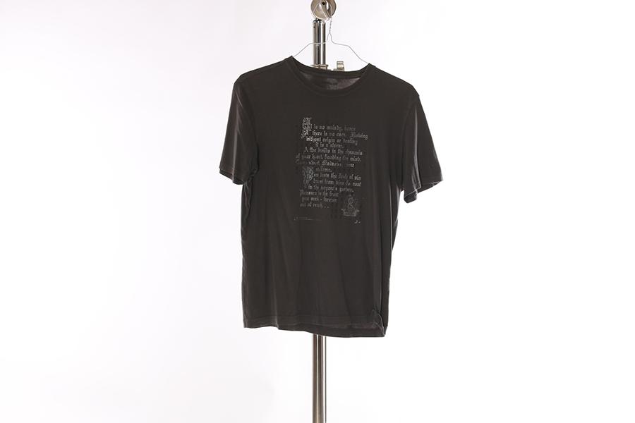Gray Script T-Shirt Image