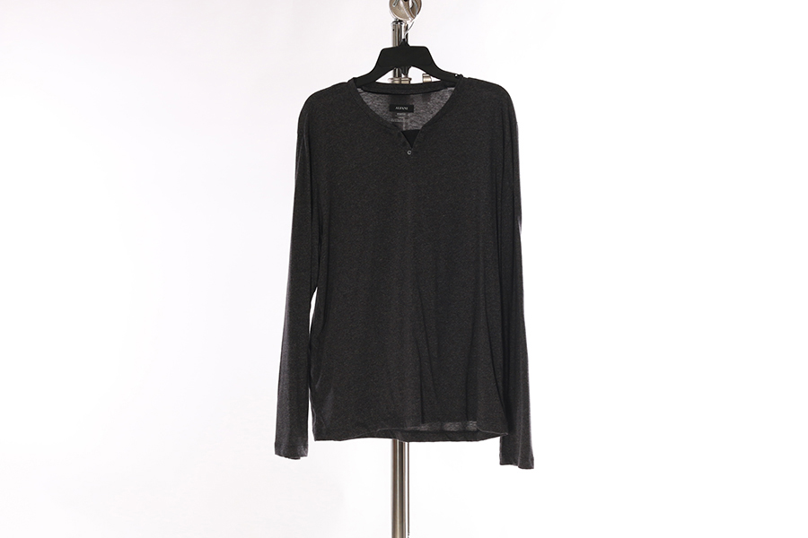 Gray Alfani Long Sleeve Shirt Image
