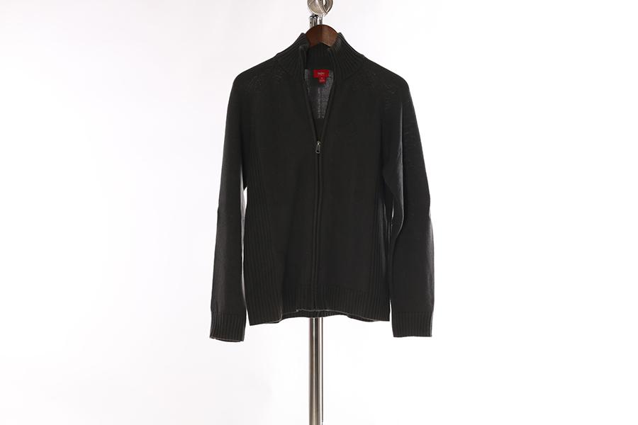 Gray Mossimo Zip Up Sweater Image
