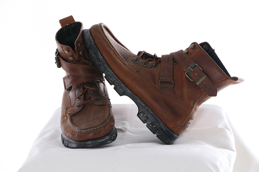 Brown Strap Boots Ralph Lauren Polo Image