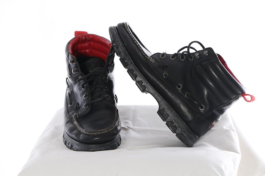Black Strap Boots Ralph Lauren Polo Image
