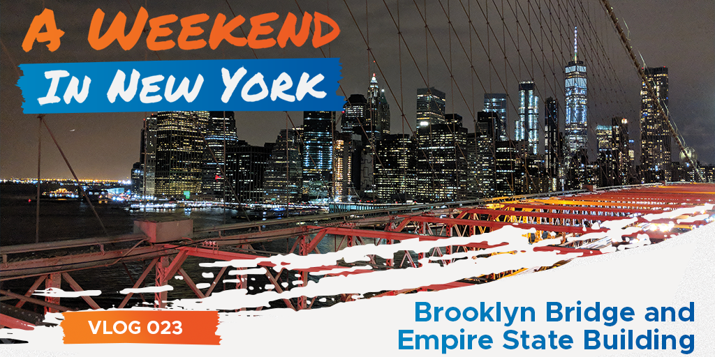 Brooklyn Bridge and Empire State Building