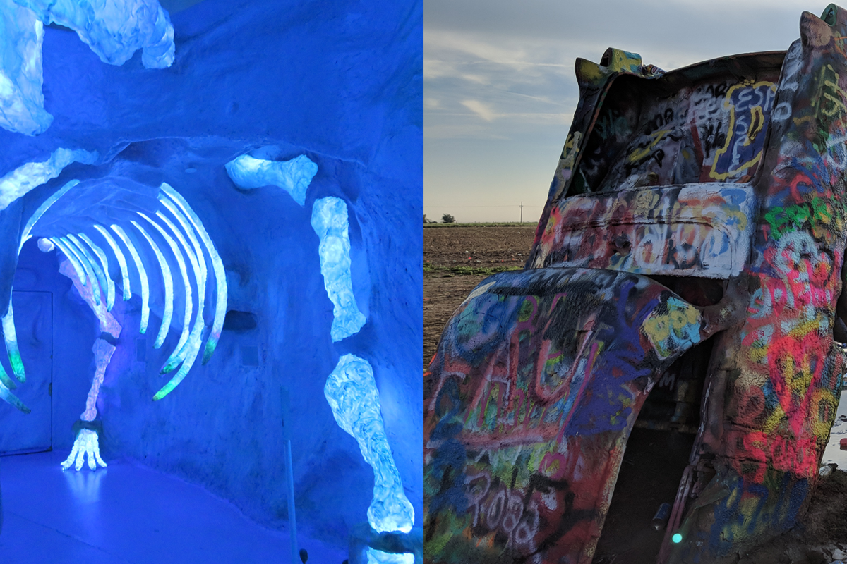 2018 Road Trip With My Parents Cadillac Ranch and Meow Wolf
